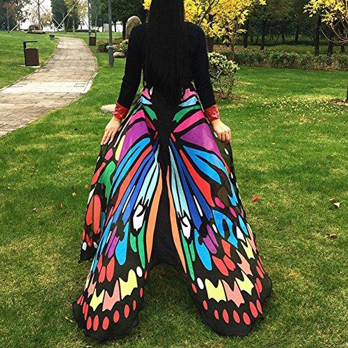 Yamalans Moda Alas de Mariposa Toalla de Playa Cape Bufanda para Mujer Navidad Regalo de Halloween, Multicolor, Pequeño