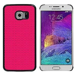 LECELL--Funda protectora / Cubierta / Piel For Samsung Galaxy S6 EDGE SM-G925 -- Purple Black Polka Dot Punk --