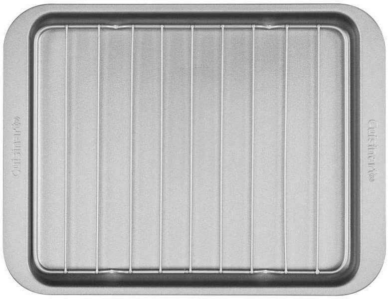 Chef's Classic Non-Stick Toaster Oven Broiler Pan with Rack - Fits in ALL Standard Toaster Ovens