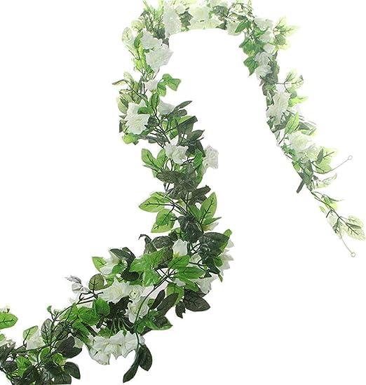 Hanging Artificial Fake Silk Cherry Flower Ivy Vine Garland Wedding Decoration