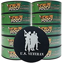 Hooch Herbal Snuff or Chew - 10 Can - Includes DC Skin Can Cover (Wintergreen Fine) (Veteran Skin)