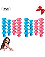 Beito Pro Hair Roller Tool 40PCS Magic Hair Rollers Kit Silicone Hair Curling Tool Ligeros rizadores de cabello Sin clip Rollers Hair Salon DIY Hair Styling (20 Large + 20 Small)