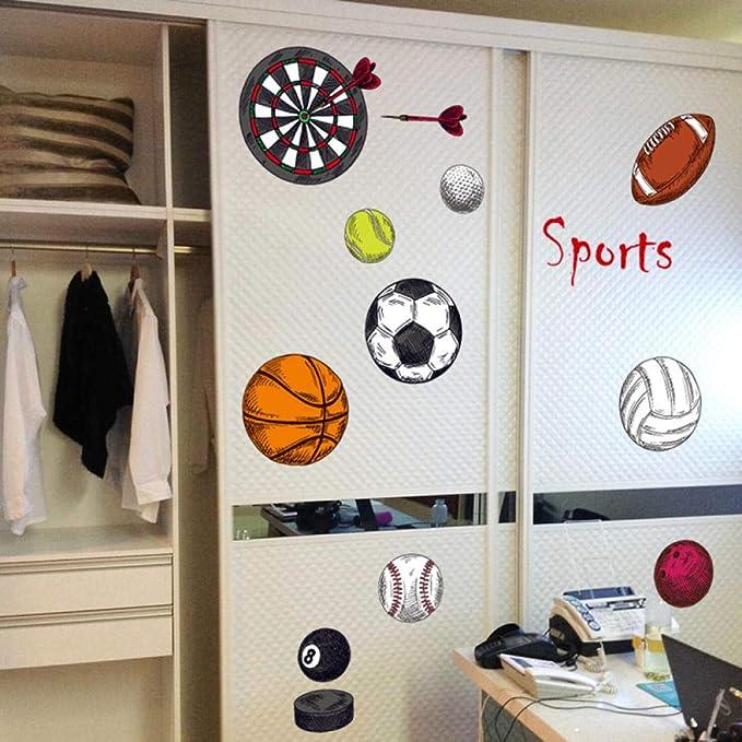 Pegatinas de pared para deportes de pelota pelota de baloncesto ...