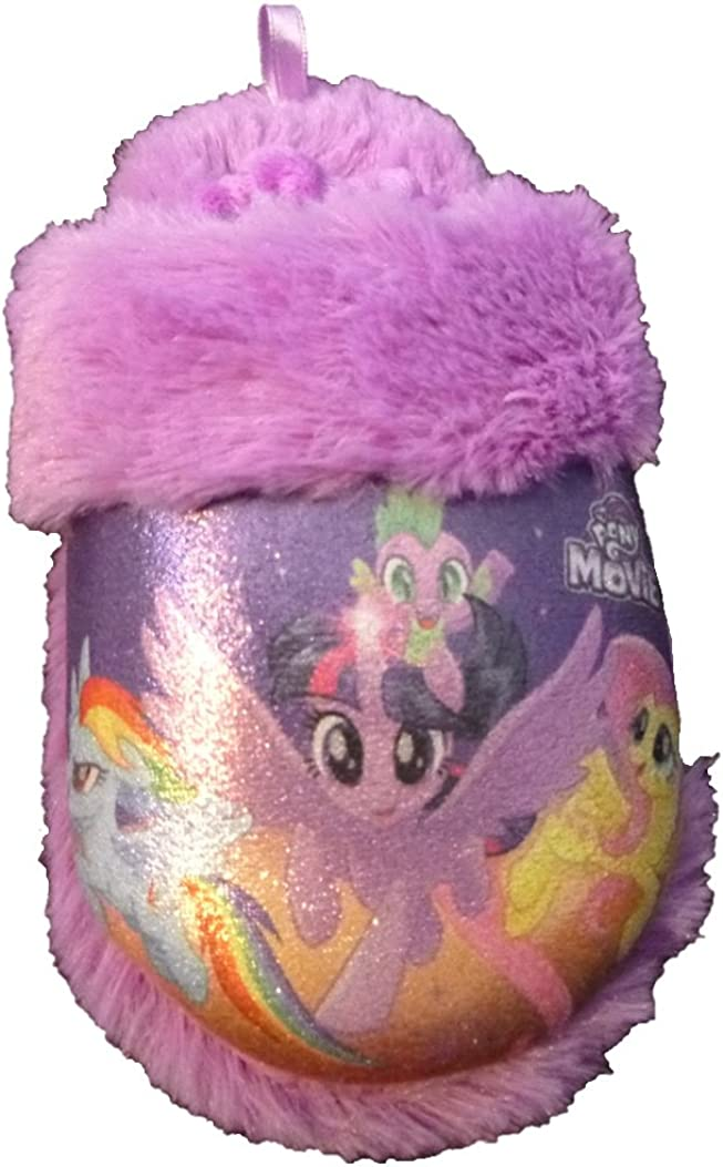 Toddler Girls Purple My Little Pony Movie Faux Fur Slippers