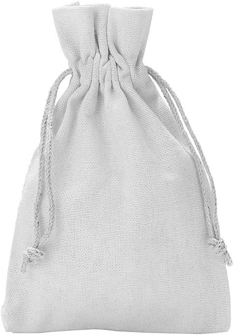 5 unidades de bolsas de algodón, bolsitas de algodón, Tamaño 40x30 ...