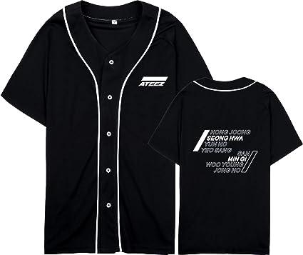 Xkpopfans Kpop ATEEZ Zero to One Concert T-Shirts Hong-Joong Seong-HWA Yun-Ho Tee Shirt