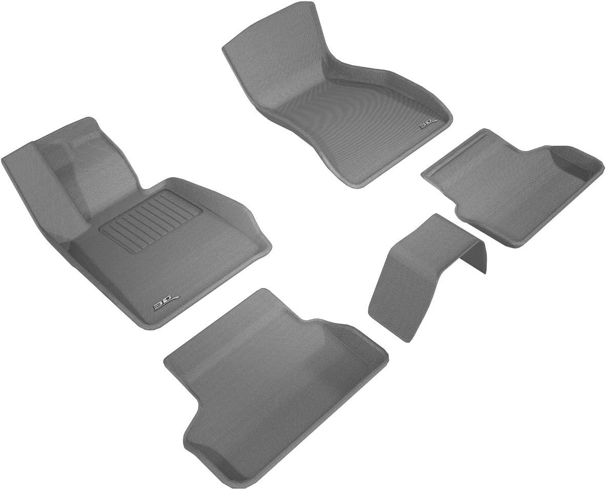 G30// G31 Kagu Rubber 3D MAXpider Complete Set Custom Fit All-Weather Floor Mat for Select BMW 5 Seies Black Models