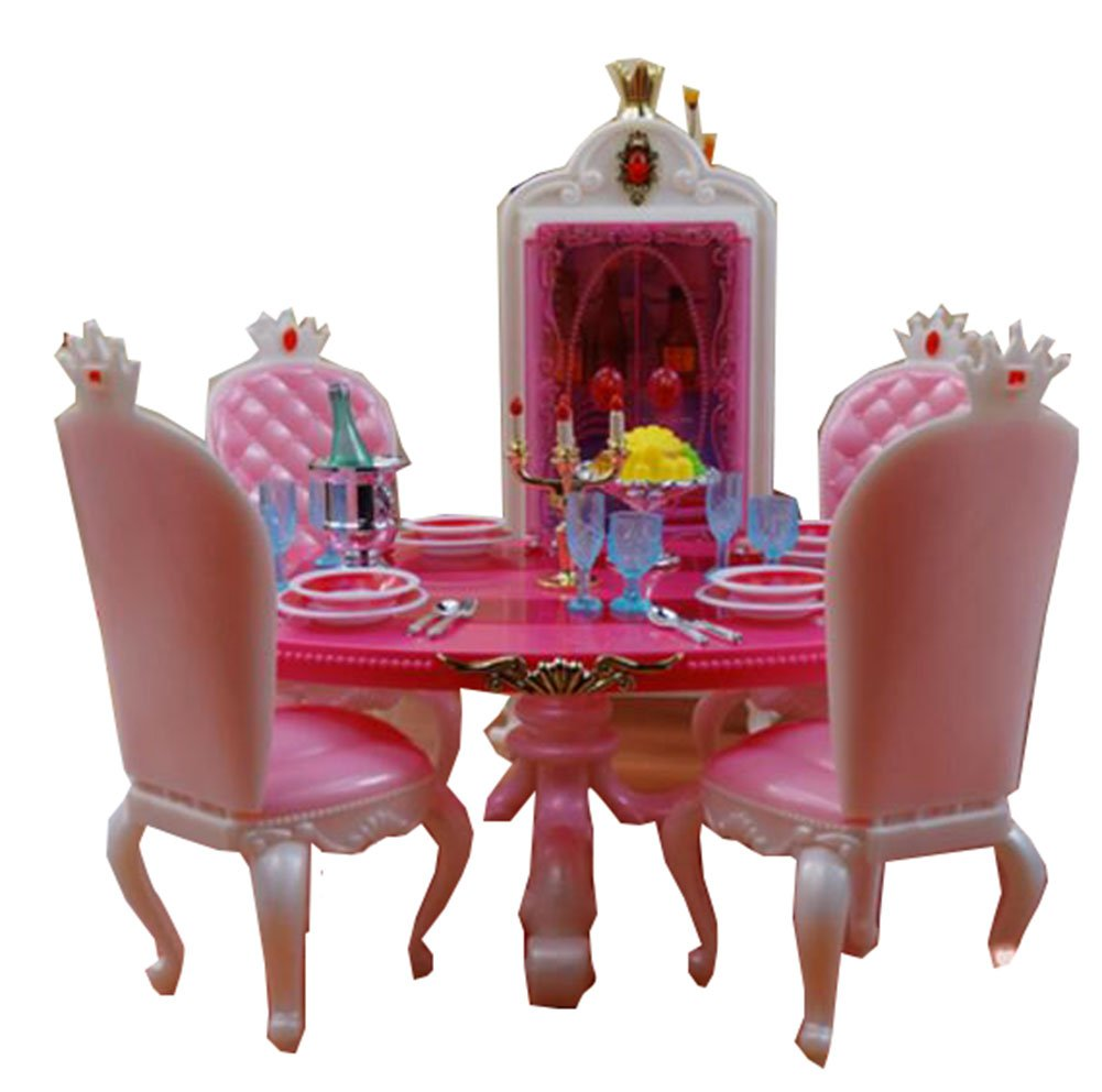 Luxurious Barbie Doll House Living Room Furniture SetTable ...