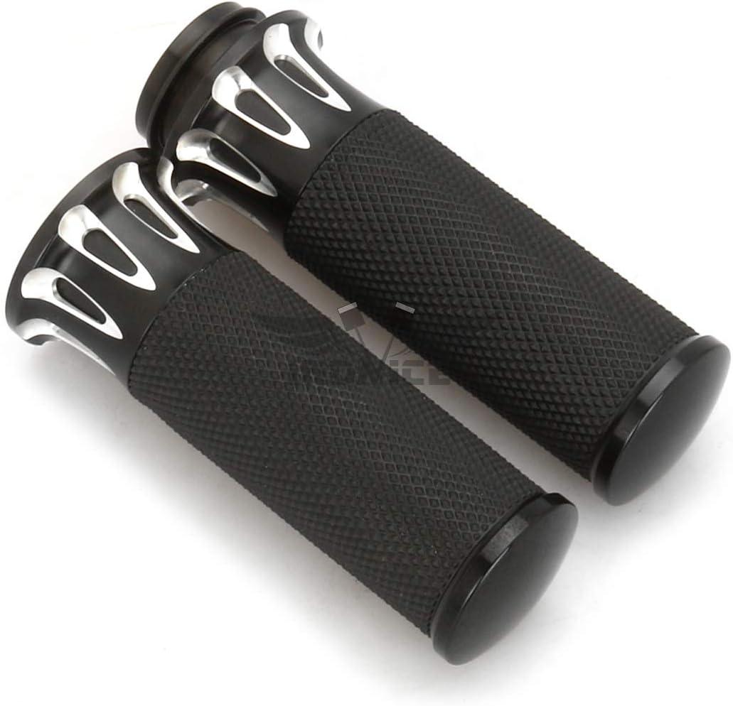 """Black 1/"""" Handlebar Hand Grips for Harley Davidson Road Street Glide FLHX Touring"""