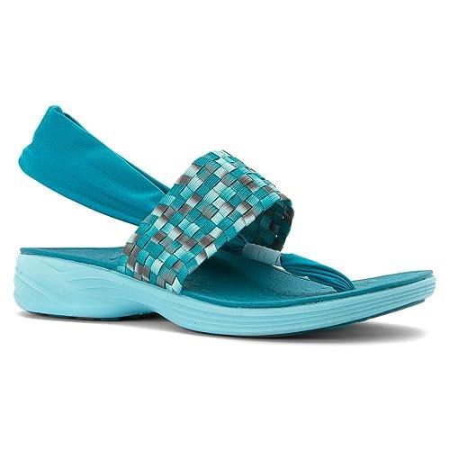 bc4eb102ae9d Vionic Women s Eva Serene Tia Active Sling Orthotic Sandal 5 B(M) Us Teal   Amazon.co.uk  Shoes   Bags