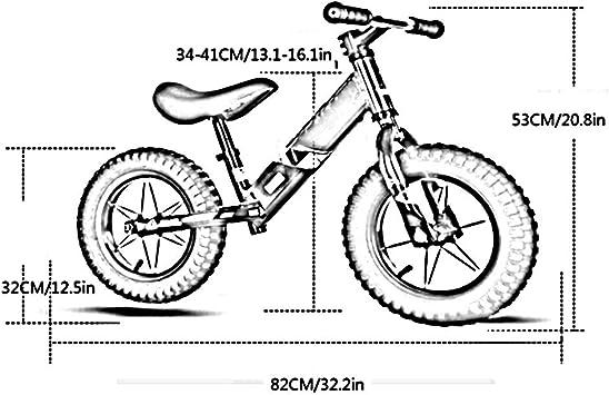 YUMEIGE Bicicletas sin pedales Bicicletas sin pedales Rueda Antideslizante Resistente Al Desgaste, Marco De Aluminio De 3,5 Kg, Dirección De 360 °, 1-6 Años For Niños, Rojo, Amarillo Bicicleta de Eq: Amazon.es: Jardín
