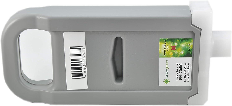 6683B001AA Anew Green/PFI-706M-R Remanufactured Magenta Ink Cartridge