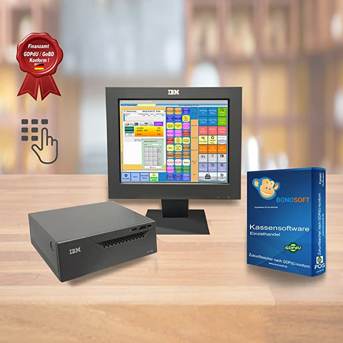 All-in-One 15 Pulgadas IBM 4810 – 340 – Caja registradora Sistema con bonosoft minorista kasse Software: Amazon.es: Informática