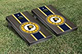Indiana Pacers NBA Regulation Cornhole Game Set Onyx Stained Stripe Version
