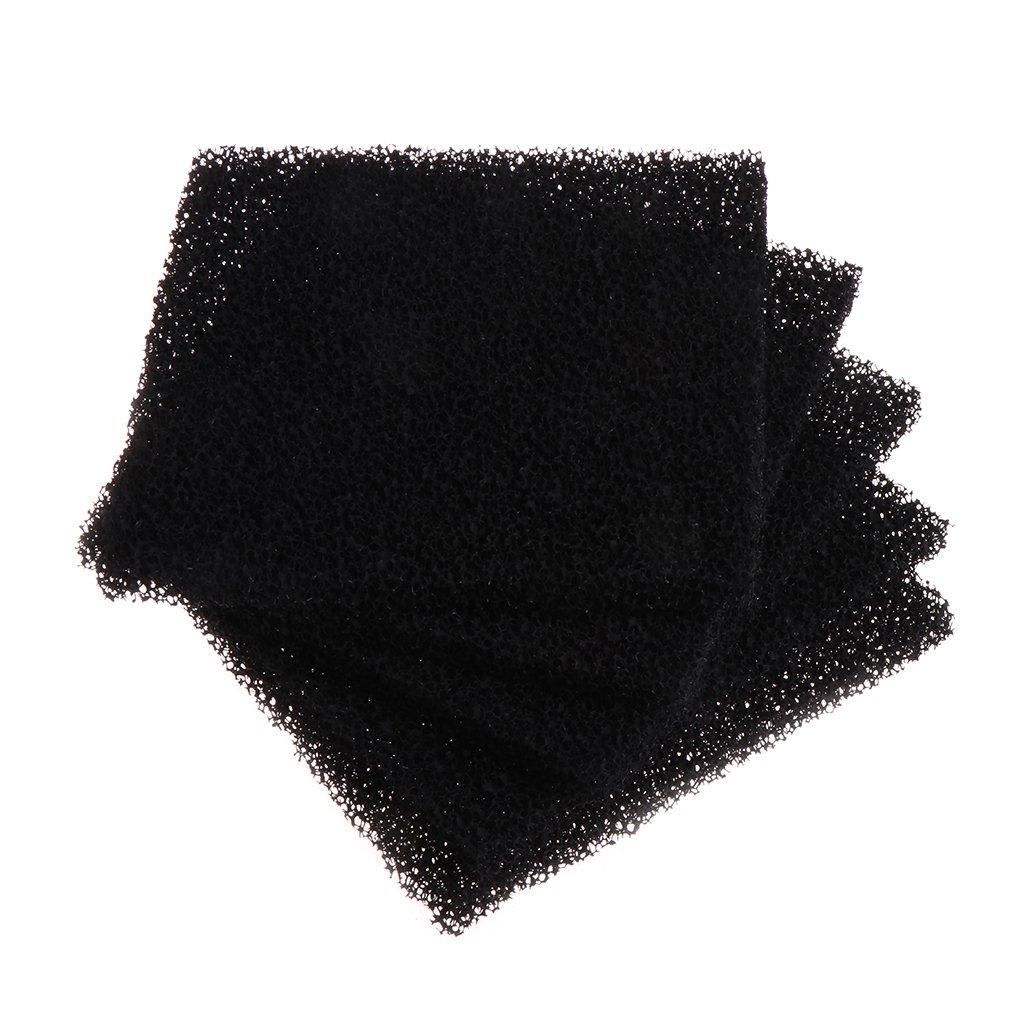 Dabixx universel Noir charbon actif filtre à air en mousse imprégné Sheet Pad 5pièces