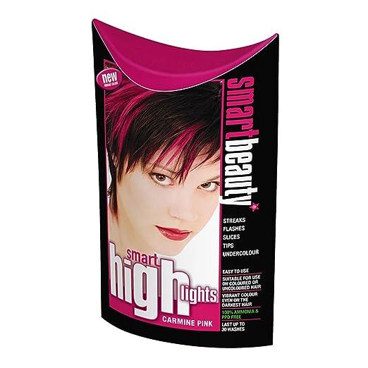 Amazon.com : Smart Highlights Carmine Pink Frosting Hair Colour x 3 ...