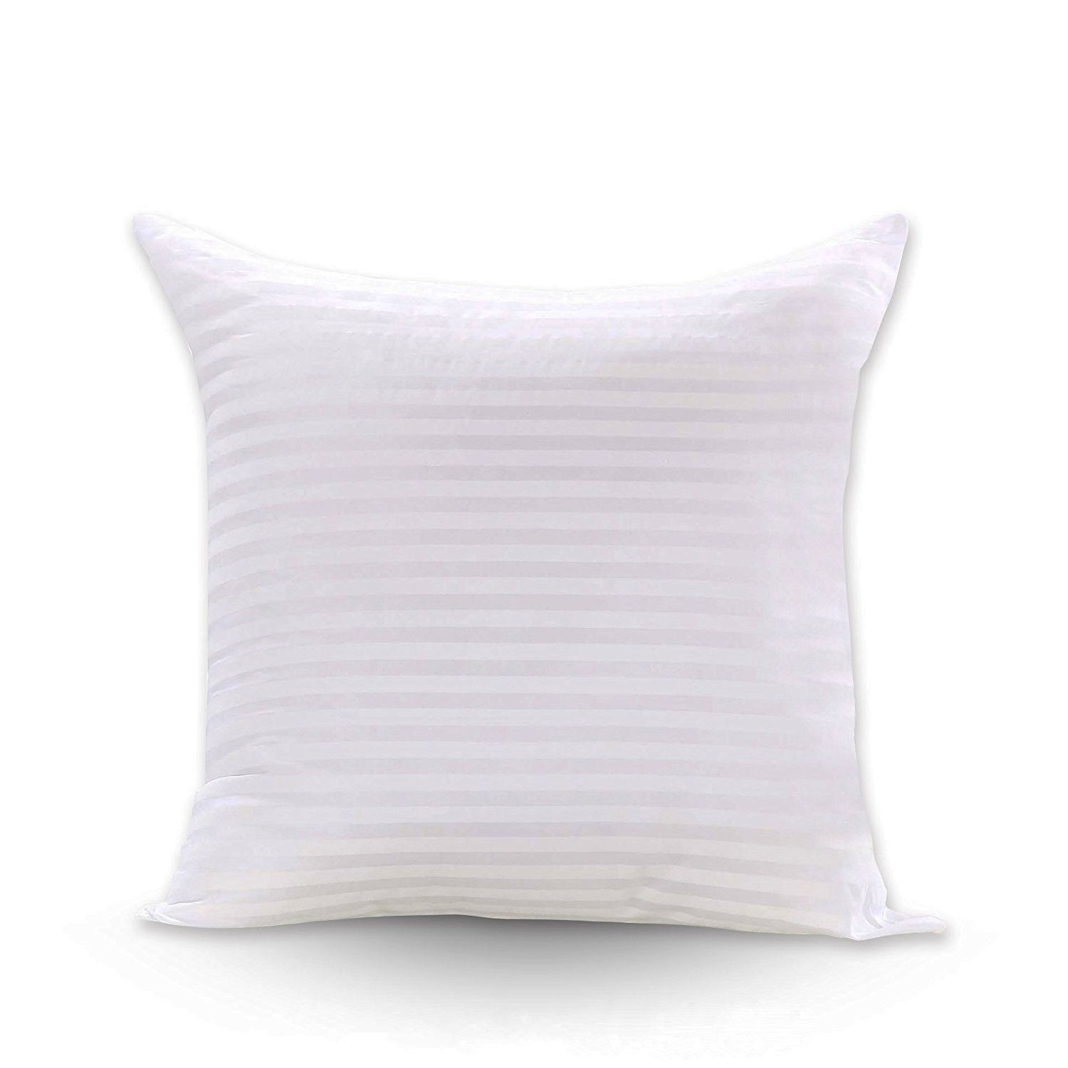 FabricMCC Throw Pillow Inserts Poly White Pillow Sham Hypoallergenic Stuffer Square Pillow Insert Form (20x20) 20x20 form