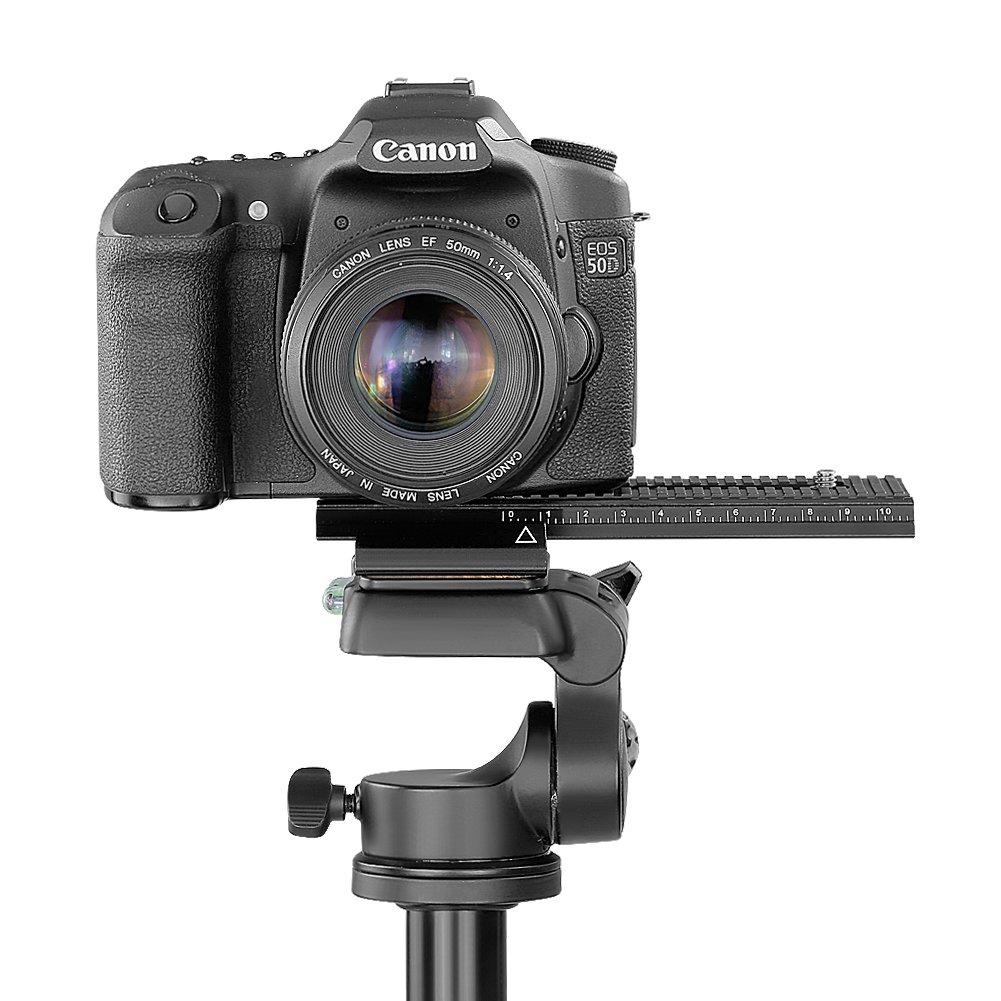 Neewer - Soporte Deslizante para cámara y Flash, Dos Posiciones, para cámaras con Tornillo estándar DE 1/4 Pulgadas (64 mm)