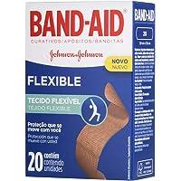 Curativos Adesivos Flexível, Band-Aid, 20 Unidades