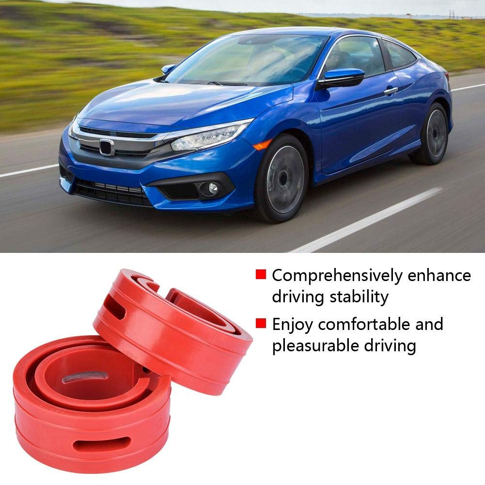 B 2pc Car Shock Absorber Buffer Spring Bumper Cushion Rosso TPE Type A-F