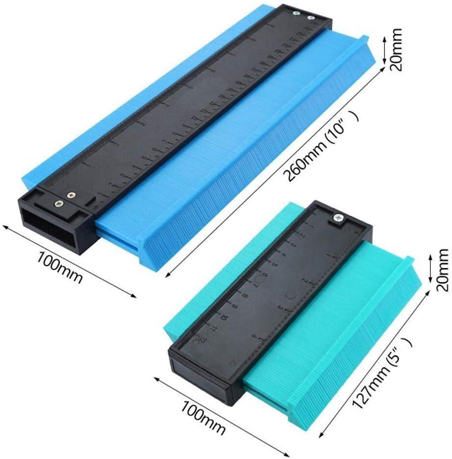 Color : Blue, Size : 12cm HYG Konturmessger/ät Mit Skala Gerade Kopieren Unregelm/ä/ßige Formen Mess Profile Tool Spur Multifunktionale Lineal Messen for Ausschnitt Fu/ßboden Fliesen Teppich