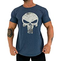 Camiseta Masculina LongLine MXD Conceito Slim Justiceiro The Punisher