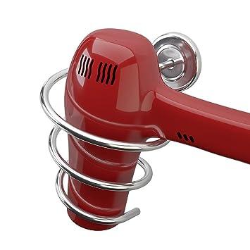 Balvi Soporte secador Pelo Curl Soporte Universal de Pared Incluye Accesorios de Montaje para Pared Metal: Amazon.es: Hogar