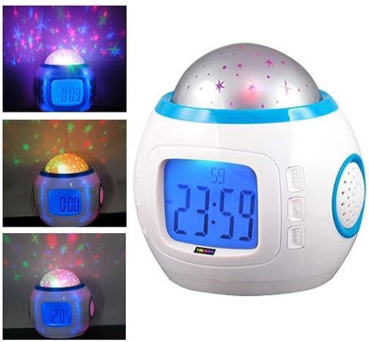 Qwead Lámpara De Proyector Reloj Despertador, Música para Dormir ...
