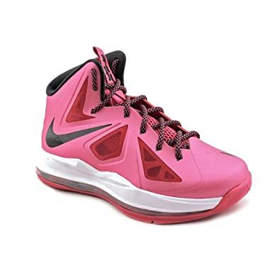 cheaper 07da1 d0739 Nike Lebron X (GS) Girls Basketball Shoes 543564-600 Fireberry 7 M US