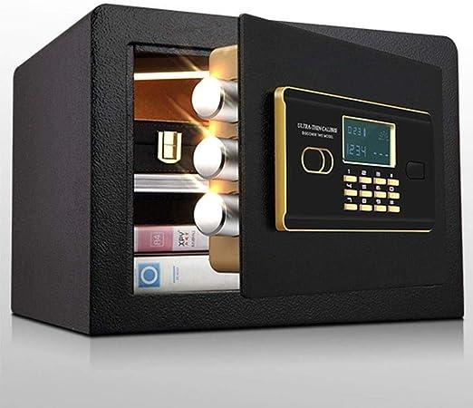 ZSAIMD Caja de seguridad digital, Cajas fuertes, bloqueo de caja, caja de dinero, cajas de seguridad Pantalla LCD joyería de Seguridad Código pasador de operación for el arma comercial valioso Home Of: