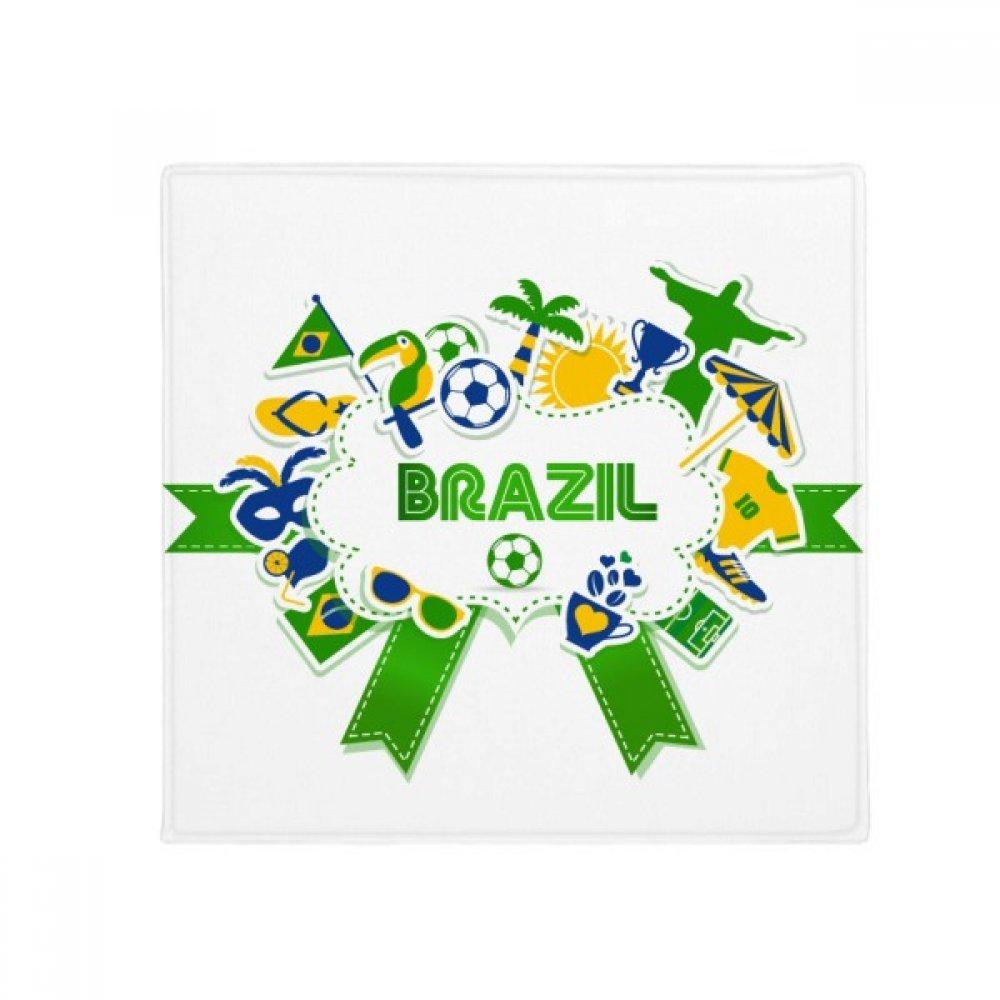 DIYthinker Soccer Football Brazil Cultural Anti-Slip Floor Pet Mat Square Home Kitchen Door 80Cm Gift