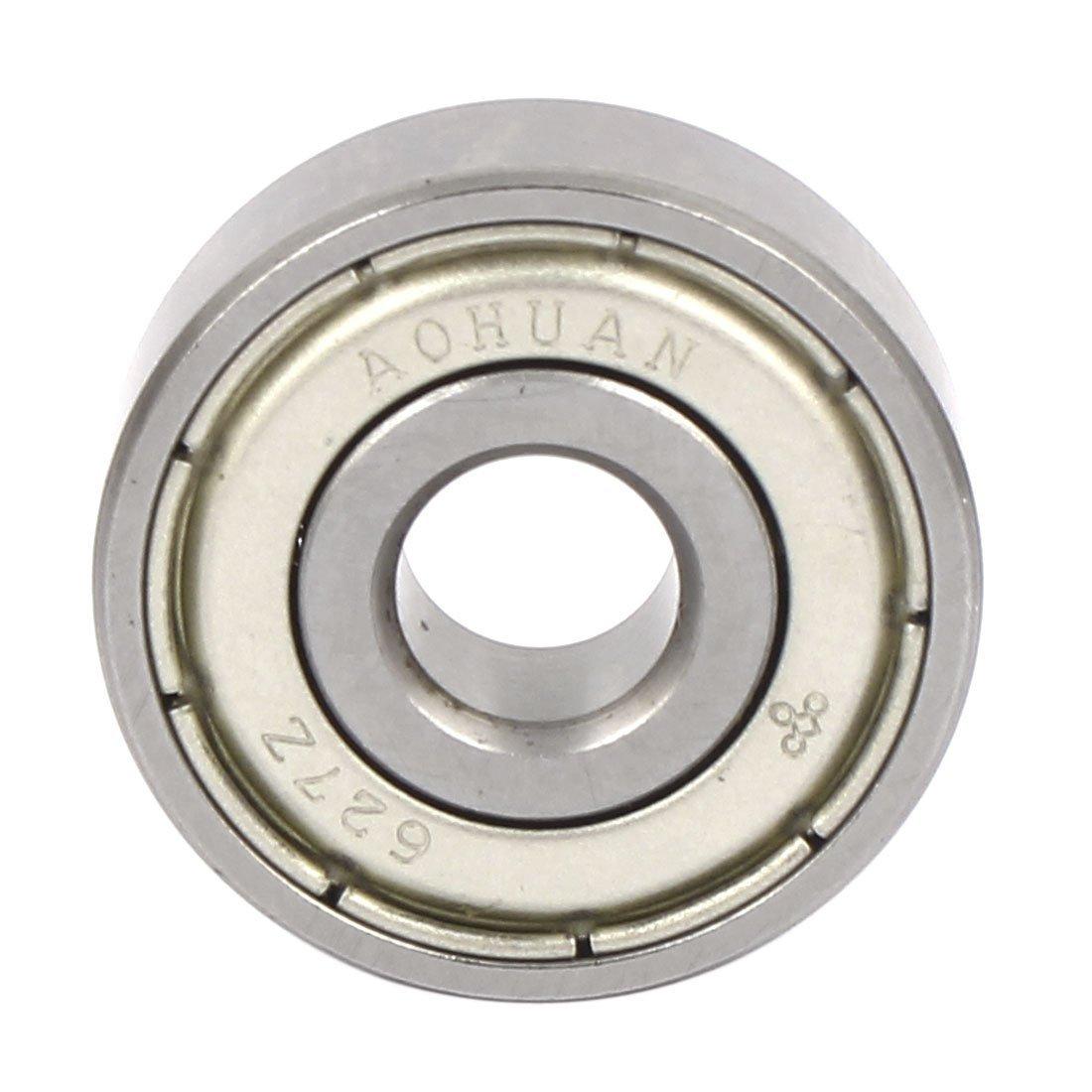 eDealMax 627Z Modelo DE 22 mm x 7 mm x 7 mm de Doble Metal protegido Guía Profundo del surco de la polea de tren de rodamientos de Bolas Rueda de Plata ...