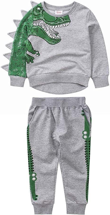 Chándal de dinosaurio para niños con sudadera y pantalones de ...