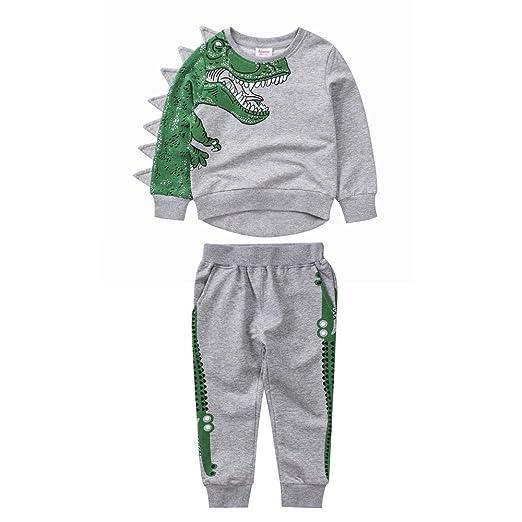 Moobeasch Chándal de Dinosaurio para niños con Sudadera y ...