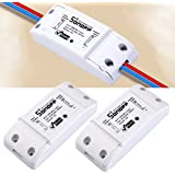 2pcs Sonoff - ITEAD WiFi Wireless Smart Switch Module ABS Shell Socket for DIY Home