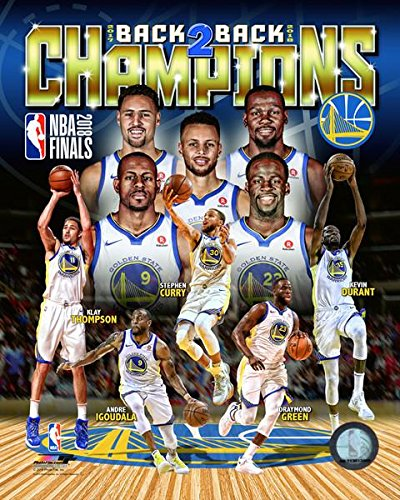 Golden State Warriors 2018 NBA Finals Champions Back To Back. Stephen Curry   Kevin Durant