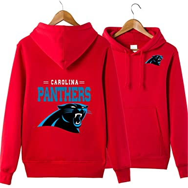Top Men's Long Sleeve Hooded Letters Print Carolina Panthers Football