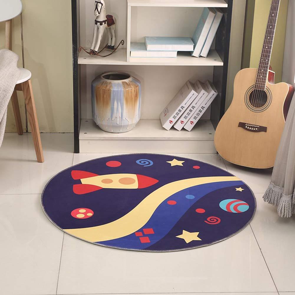 Educational Round Rug for Children Comfortable Nursery Play Mat Non Slip Carpet for Living Room
