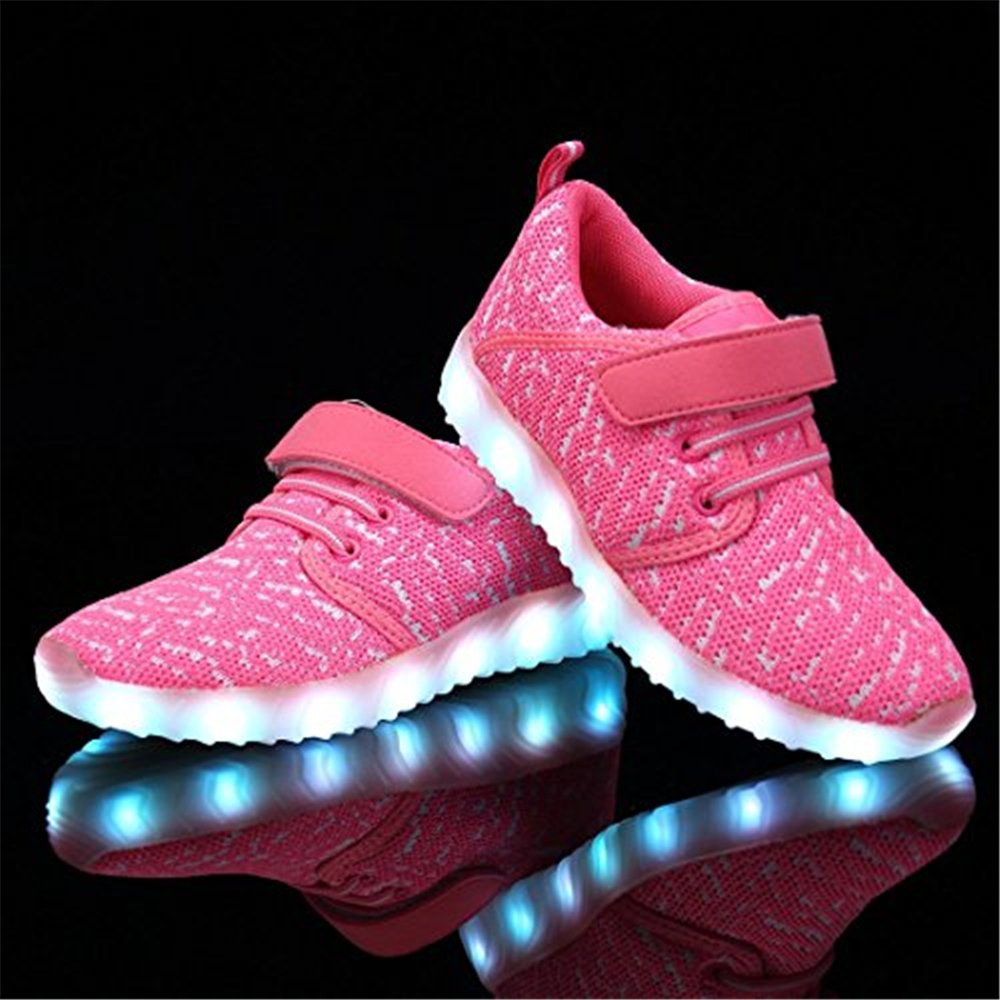 Fancyww Unisex Breathable Radiant Shoes LED Colorful Lights Casual Shoes