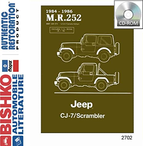 amazon com bishko automotive literature 1984 1985 1986 jeep cj 7 rh amazon com Jeep CJ7 Frame Jeep CJ Restoration
