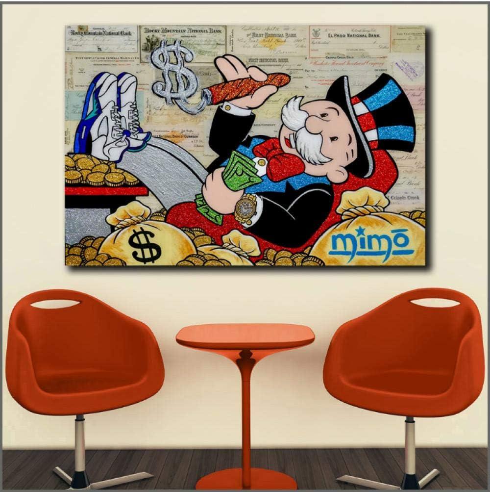 Impression sur Toile Posters Peinture /À lhuile Monopoly Graffiti Mur Art Photo Home Decor Salon Moderne Toile Imprimer Peintures
