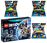 Lego Dimensions Demolition Starter Pack + Mission Impossible Level Pack + A-Team Fun Pack + Knight Rider Fun Pack for Nintendo Wii U Console