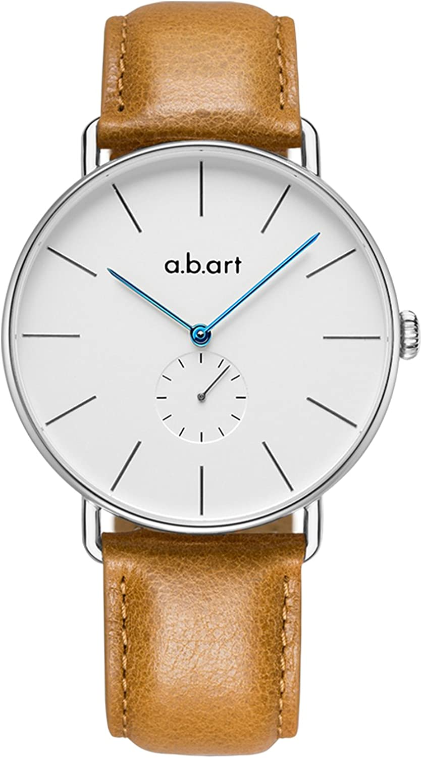 abart FR41-101 Men Watches Silver Case Swiss Movement Watches for Men Fashion Watch for Men