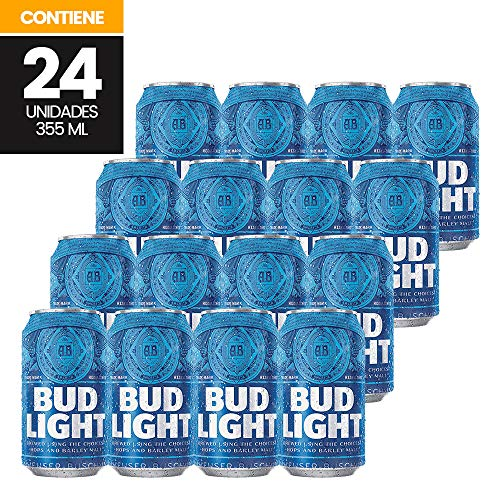 Cerveza Bud Light 24 latas de 355ml c/u