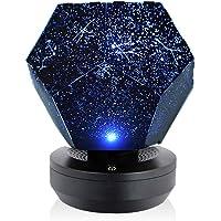 pedkit Romântico CONDUZIU a Noite Estrelada Lâmpada Estrela 3D Projetor de Luz para Quarto de Crianças Constelação de…