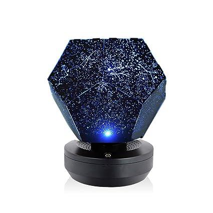 Lixada LED Lámpara de Proyector Estrellas Lámpara Nocturna Galaxy ...