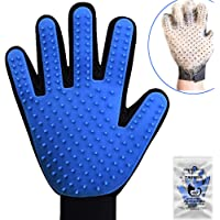 Pet Grooming Glove,Dog Brushes for Sheldding Small Medium Large Dog .Cat Deshedding Brush Glove,Pet Grooming Glove for Golden Retriever Poodle Husky Bull Terrier Rabbits Cats (Right Glove)