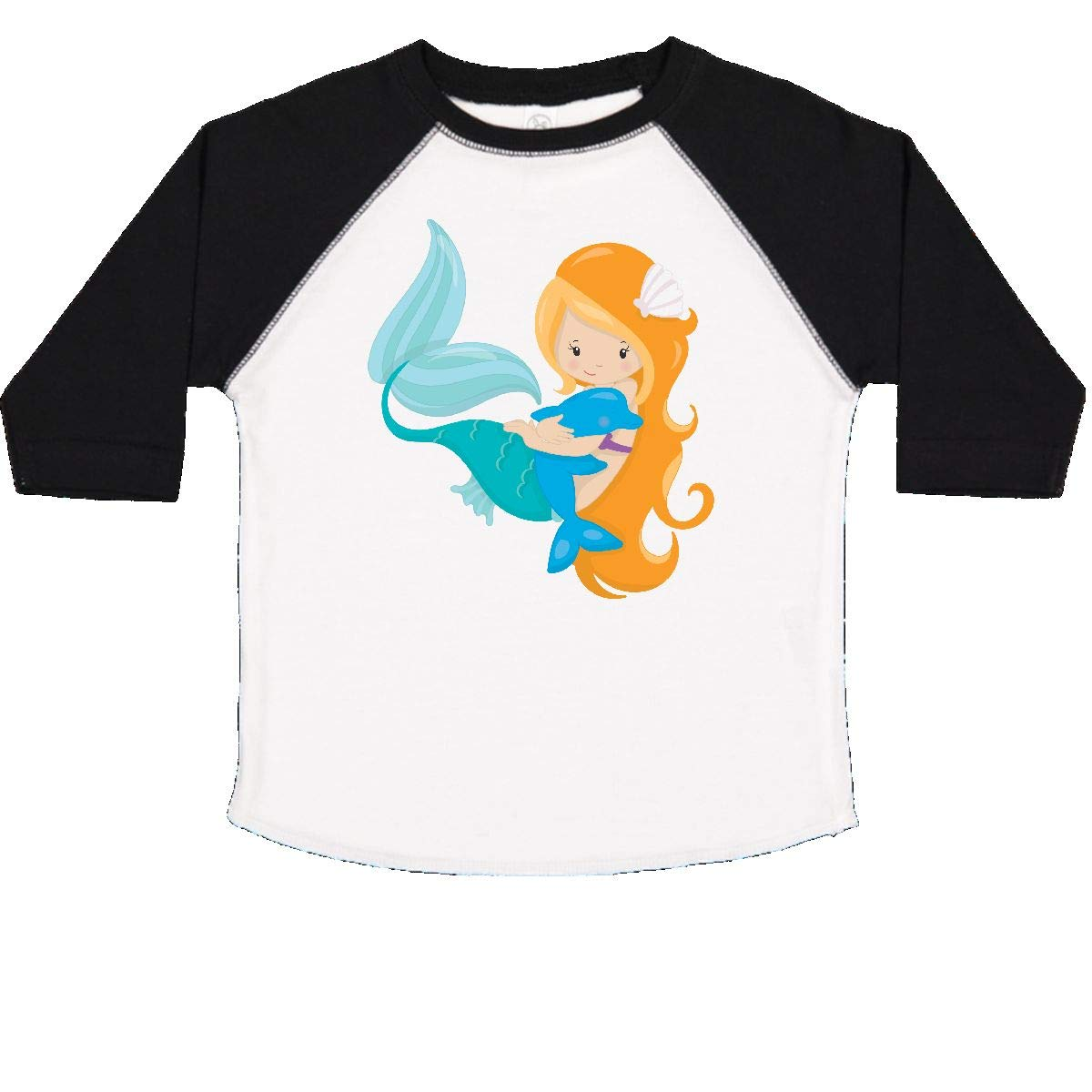 inktastic Mermaid with Dolphin Toddler T-Shirt