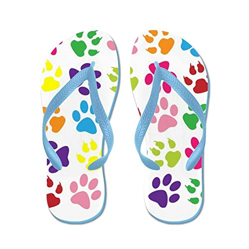 855fbb6c4c033 Image Unavailable. Image not available for. Color  CafePress - Paw Prints - Flip  Flops ...
