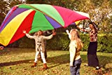 Kenley 12 Foot Play Parachute for Kids - Multicolored Children Toy for ...
